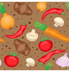 autumn vegetables and mushrooms vector image