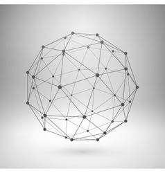 Wireframe mesh polygonal sphere vector