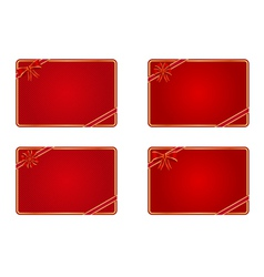 Blank gift cards vector