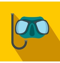 Diving mask flat icon vector