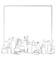 Frame with outline of beauty collection vector image