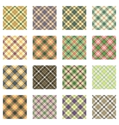 Plaid patterns collection vector