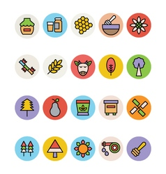 Agriculture icons 3 vector