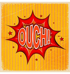 Cartoon blast ouch vector