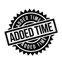 Added time rubber stamp vector
