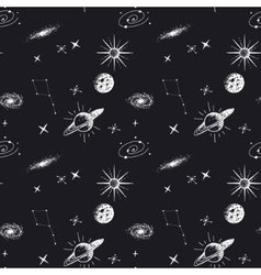 Astronomy seamless pattern vector