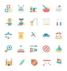 Baby and kids colored icons 3 vector