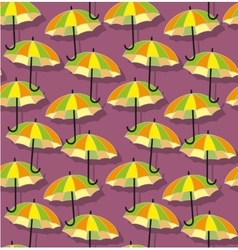 Bright umbrellas seamless pattern vector image vector image