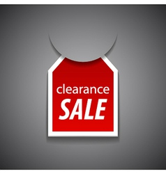 Clearance sale tag vector
