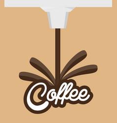 Coffee traditional beverage design vector