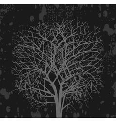Dark tree vector image vector image