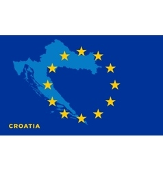 Flag of European Union with Croatia on background vector image vector image