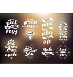 Inspirational quotes set vector