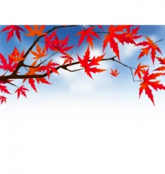 Japanese autumn vector