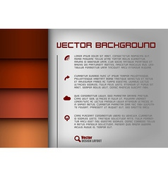 layout red vector image vector image