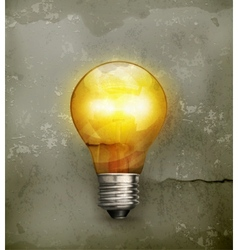 Lightbulb old-style vector image