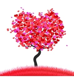 love the tree vector image