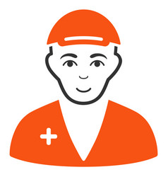 Medic flat icon vector