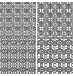 monochrome geometrical patterns background texture vector image vector image