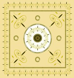 Native creamy yellow background pattern2 vector