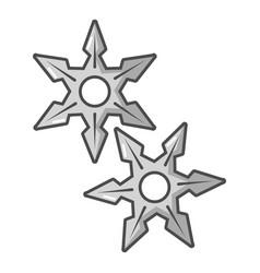 ninja stars icon cartoon style vector image vector image