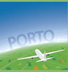 Porto flight destination vector