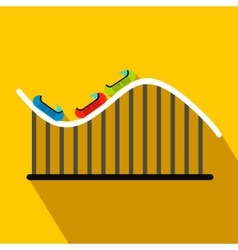 Roller coaster flat icon vector