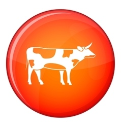 Switzerland cow icon flat style vector