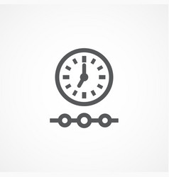 timeline icon vector image vector image