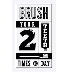 Typographic retro dental poster vector