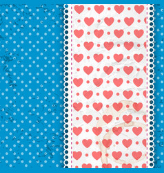 valentines composition heart print vector image