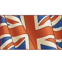 Vintage British flag background vector image vector image