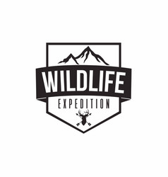 Wilderness expedition design vector