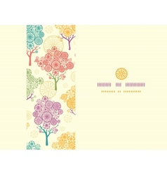 Colorful abstract trees horizontal seamless vector image