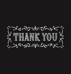 Thank you lettering for greeting card vector