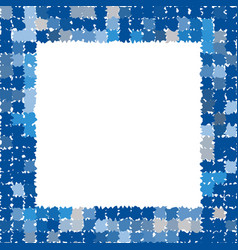 Photo frame in different shades of blue vector