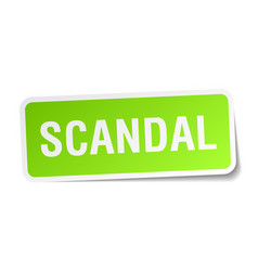 Scandal square sticker on white vector