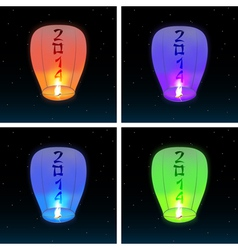 2014 Chinese lanterns vector image