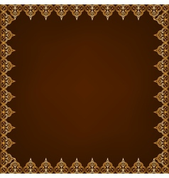 Eastern pattern frame vector
