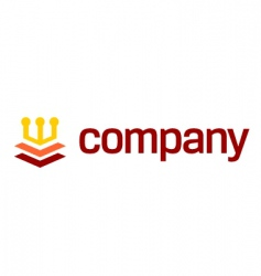 Crown logo for legal company vector