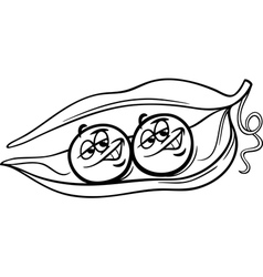 Like two peas in a pod coloring page vector