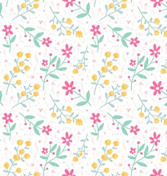 Spring mood seamless floral pattern vector