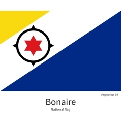 National flag of bonaire with correct proportions vector