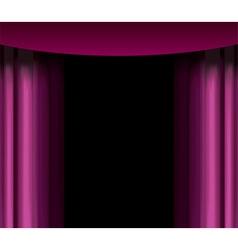 purple curtain vector image