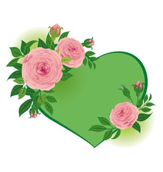 roses to Valentines Day vector image