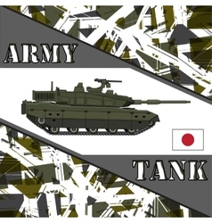 Military tank japan army armur vehicles vector