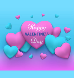 a happy day valentines vector image