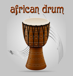 african drum musical instruments stock vector image vector image