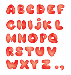 Alphabet kid style line latin letter characters vector