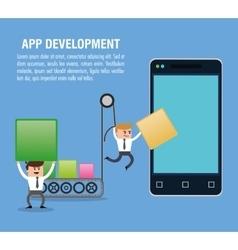 App development technology design vector